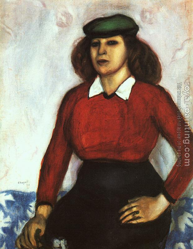 Marc Chagall : Portrait of the Artist's Sister (Aniuta)