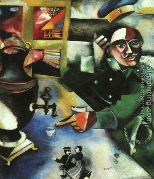 Marc Chagall : The Soldier Drinks