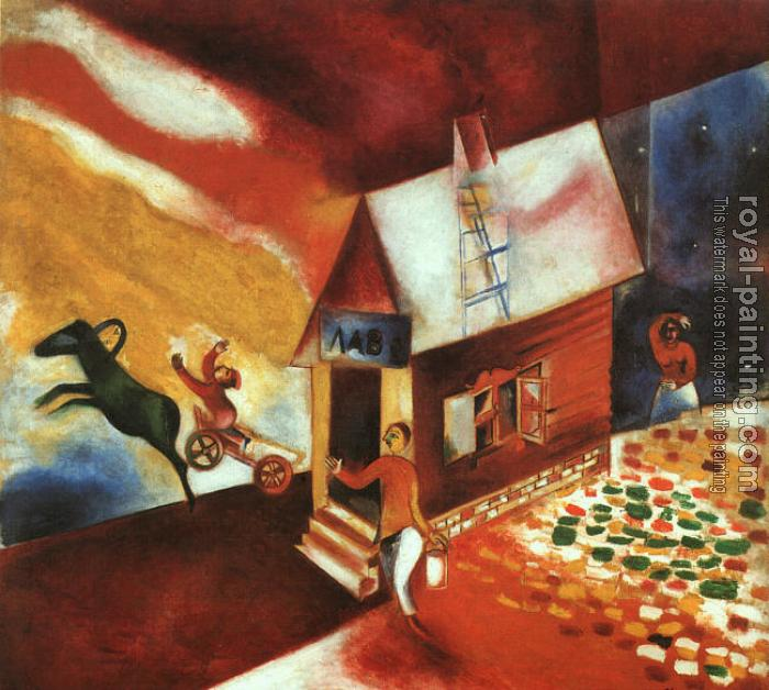 Marc Chagall : The Flying Carriage