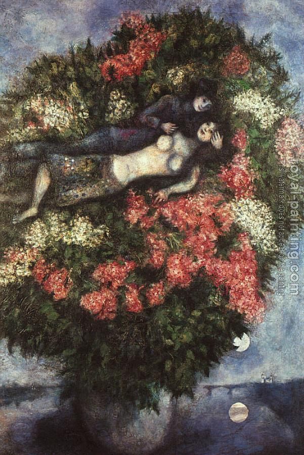 Marc Chagall : Lovers in the Lilacs