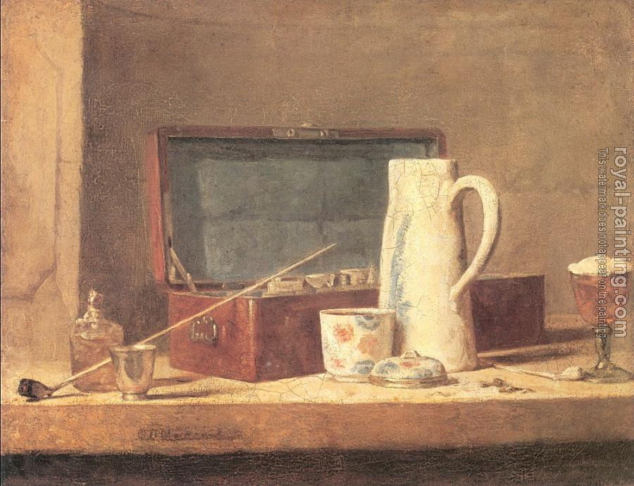 Jean Baptiste Simeon Chardin : The Smoker's Case