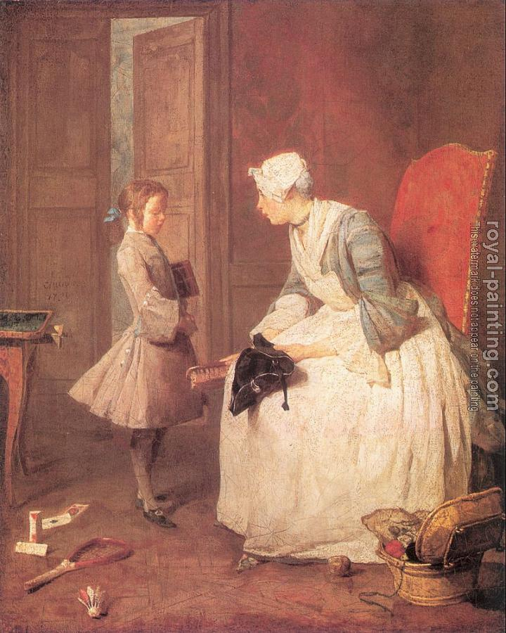 Jean Baptiste Simeon Chardin : The Governess