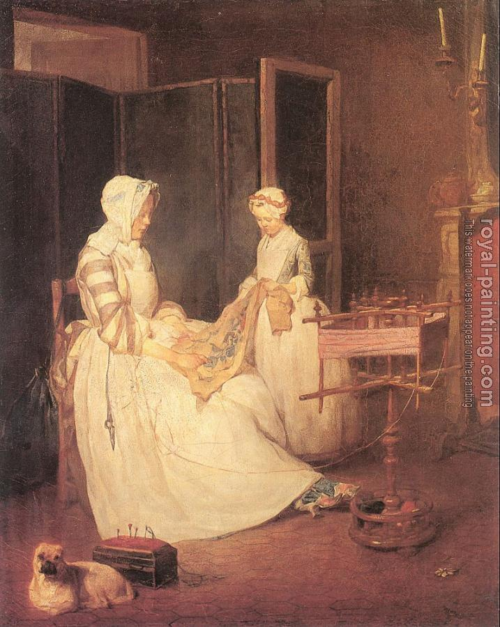 Jean Baptiste Simeon Chardin : The Diligent Mother