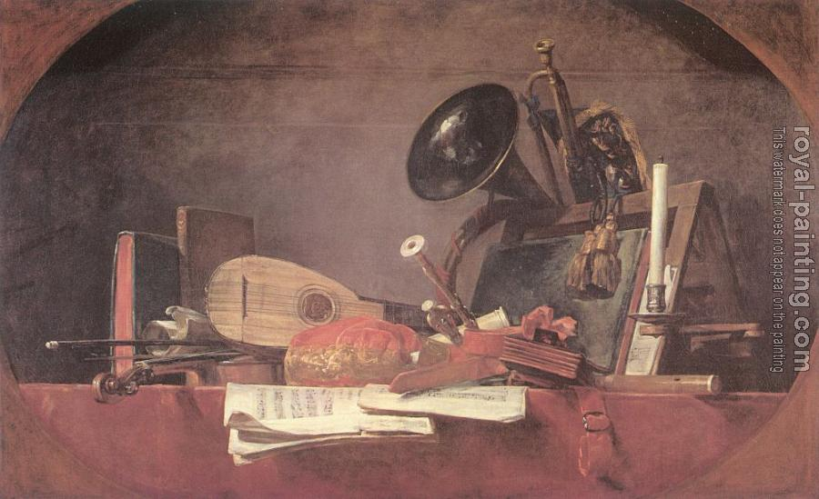 Jean Baptiste Simeon Chardin : The Attributes of Music