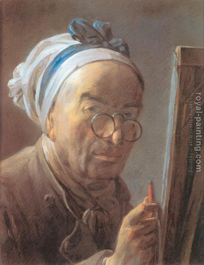 Jean Baptiste Simeon Chardin : Self-Portrait at an Easel