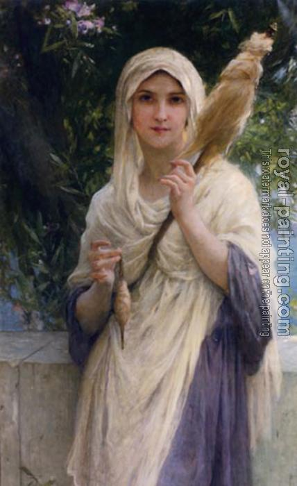 Charles Amable Lenoir : The Spinner By The Sea