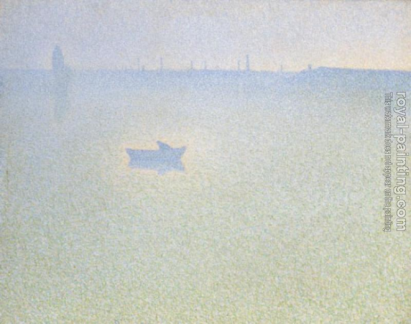 Charles Angrand : The seine at dawn