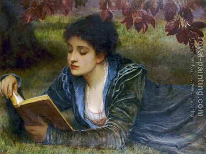 Charles Edward Perugini : Girl Reading