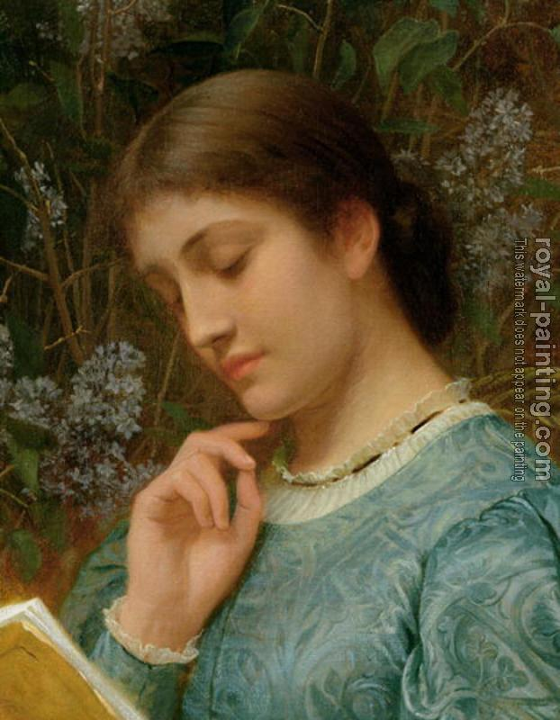 Charles Edward Perugini : Girl Reading II