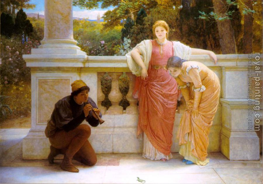 Charles Edward Perugini : The Lizard Charmer