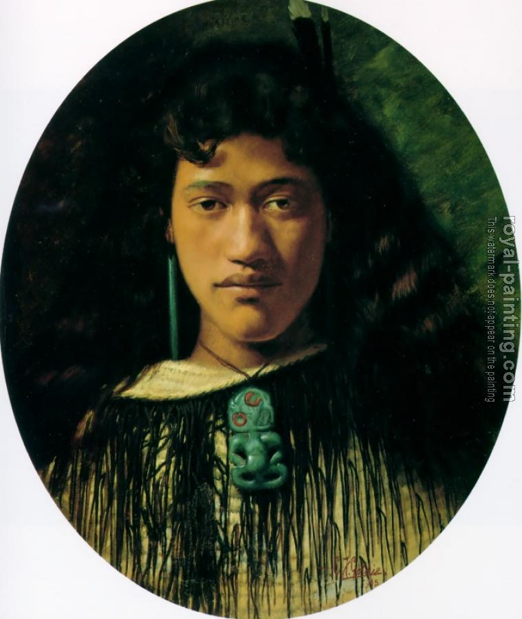 Charles Goldie : Hinemoa the belle of the Kainga
