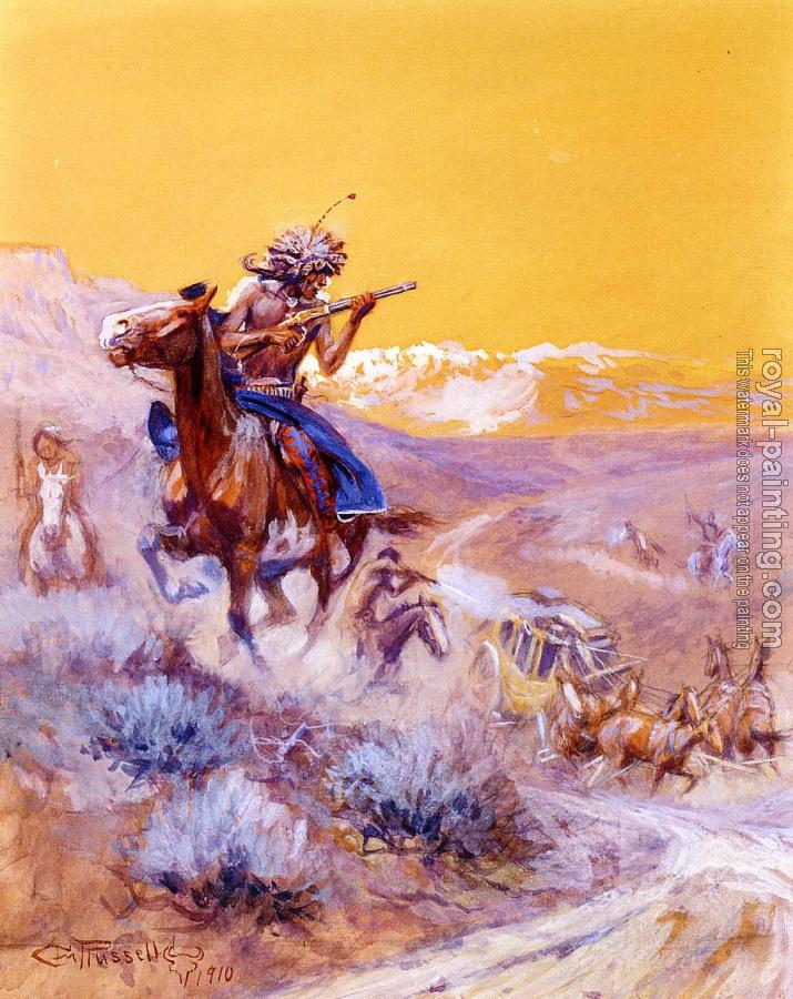 Charles Marion Russell : Indian Attack