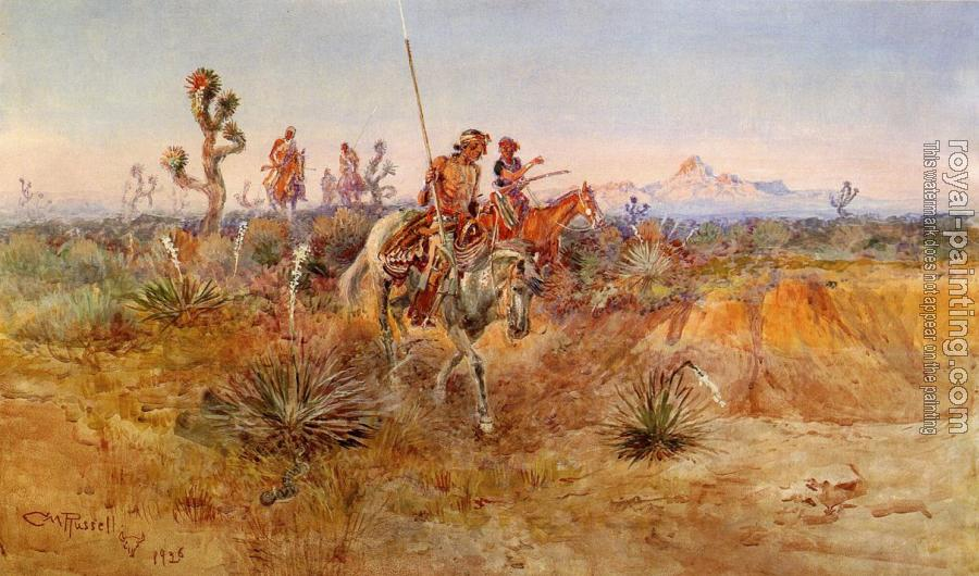 Charles Marion Russell : Navajo Trackers
