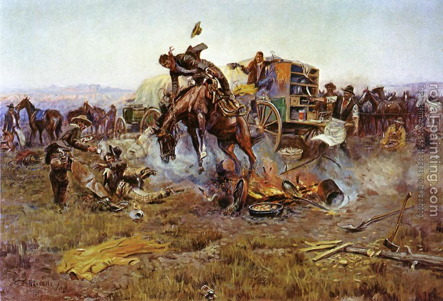Charles Marion Russell : Bronc to Breakfast
