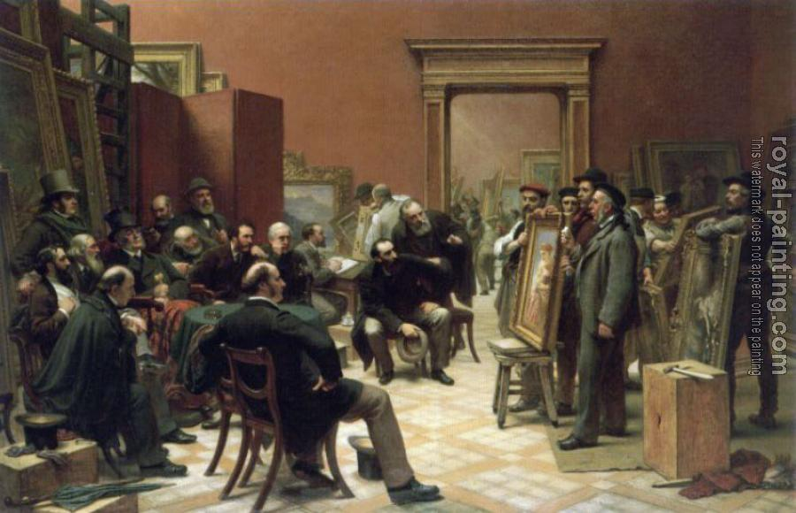 Charles West Cope : The Council of the Royal Academy selecting Pictures for Exhibition