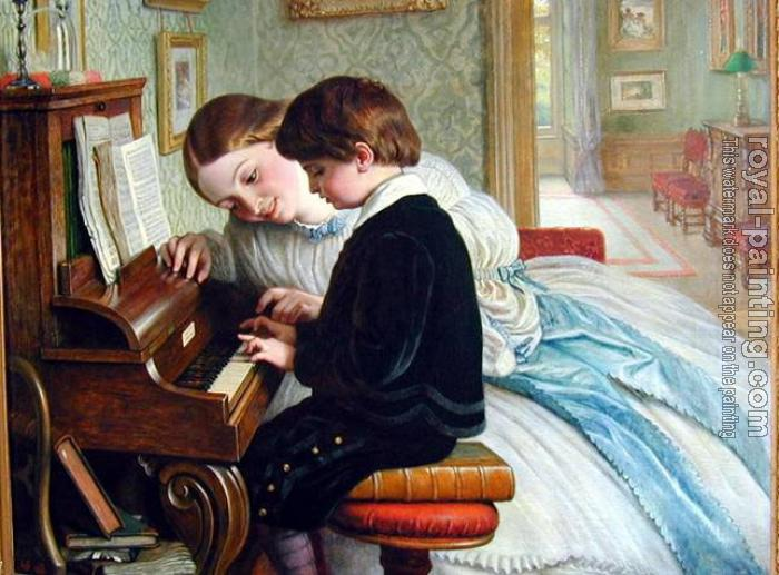 Charles West Cope : The Music Lesson