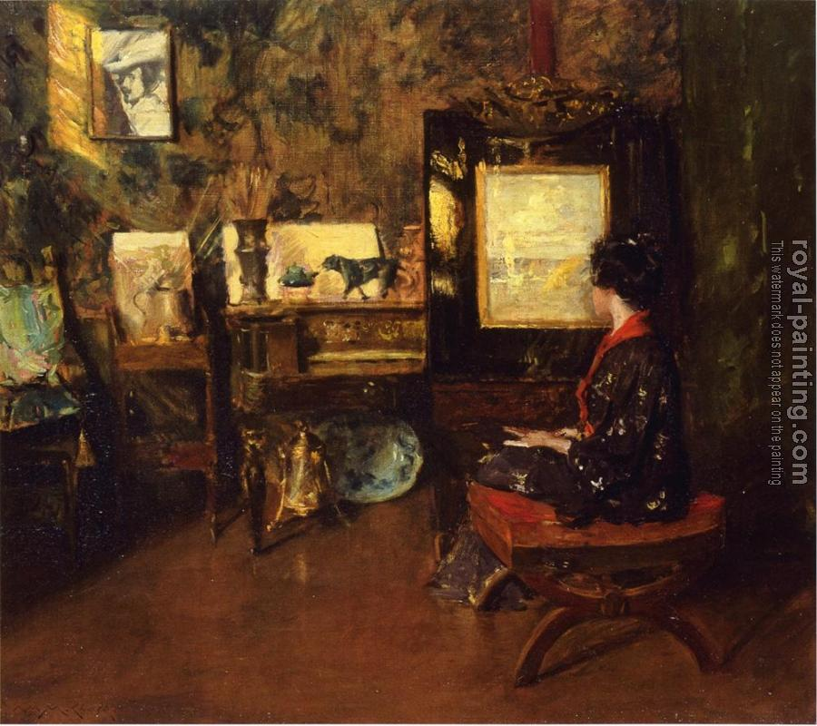 William Merritt Chase : Alice in the Shinnecock Studio