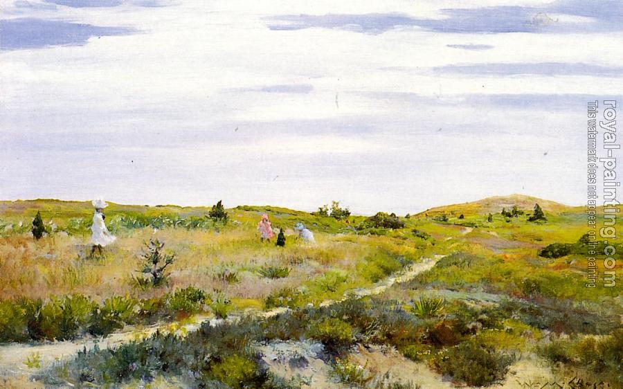 William Merritt Chase : Along the Path at Shinnecock