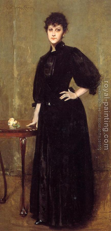 William Merritt Chase : Lady in Black aka Mrs Leslie Cotton