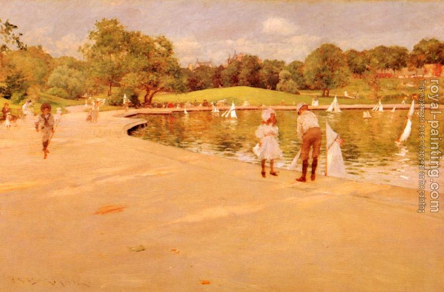 William Merritt Chase : Lilliputian Boat-Lake
