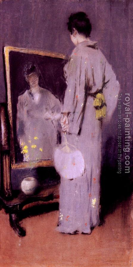 William Merritt Chase : Making Her Toilet