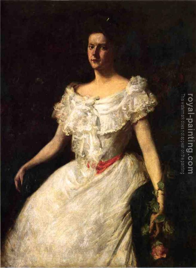 William Merritt Chase : Portrait of a Lady with a Rose