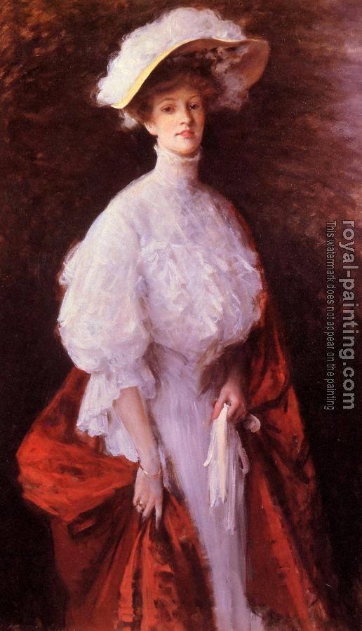 William Merritt Chase : Portrait of Miss Frances