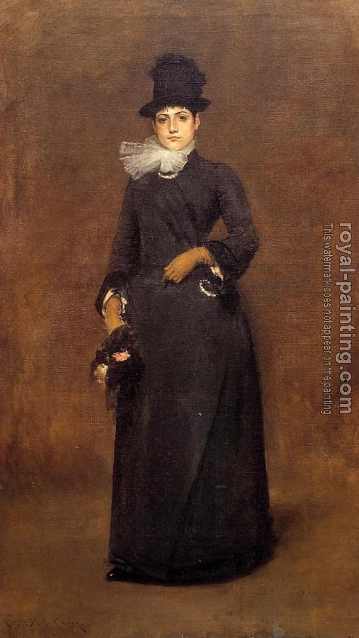 William Merritt Chase : Ready for a Walk Beatrice Clough Bachmann