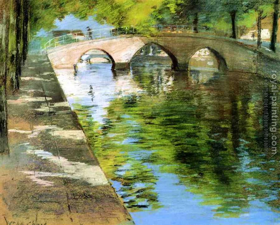 William Merritt Chase : Reflections aka Canal Scene
