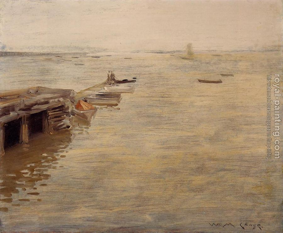 William Merritt Chase : Seashore aka A Grey Day
