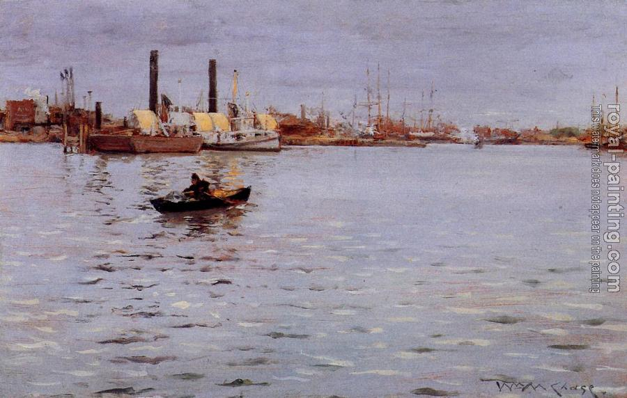 William Merritt Chase : The East River