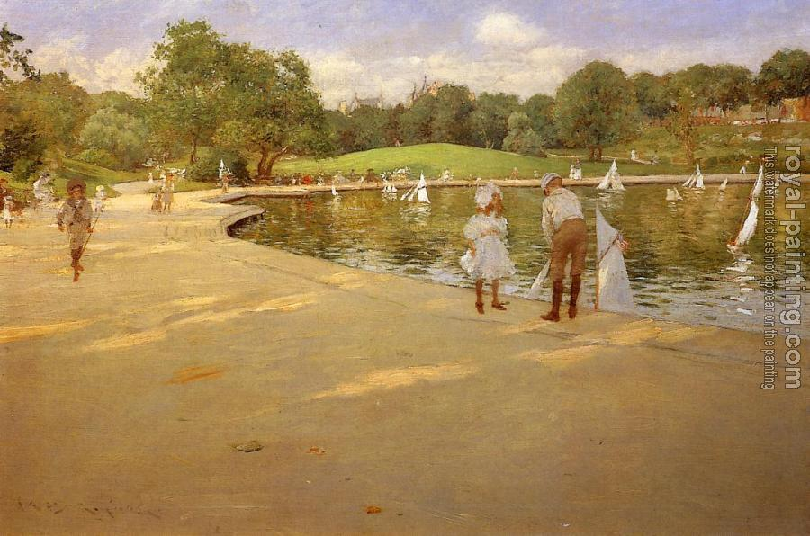 William Merritt Chase : The Lake for Miniature Yachts aka Central Park