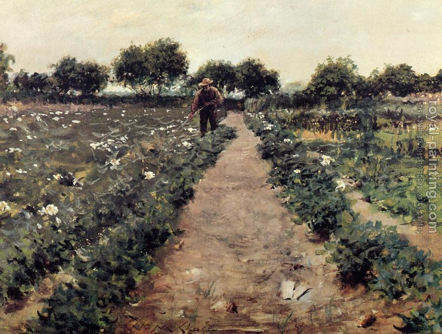 William Merritt Chase : The Potato Patch aka Garden Shinnecock