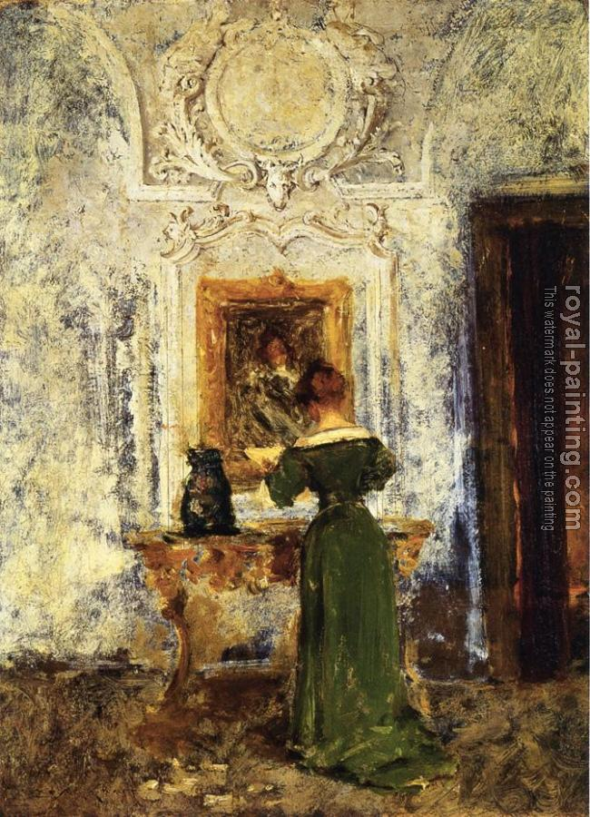 William Merritt Chase : Woman in Green aka Lady in Green