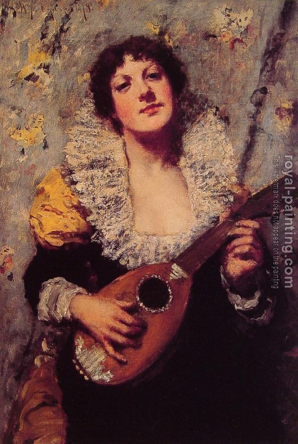 William Merritt Chase : The Mandolin Player