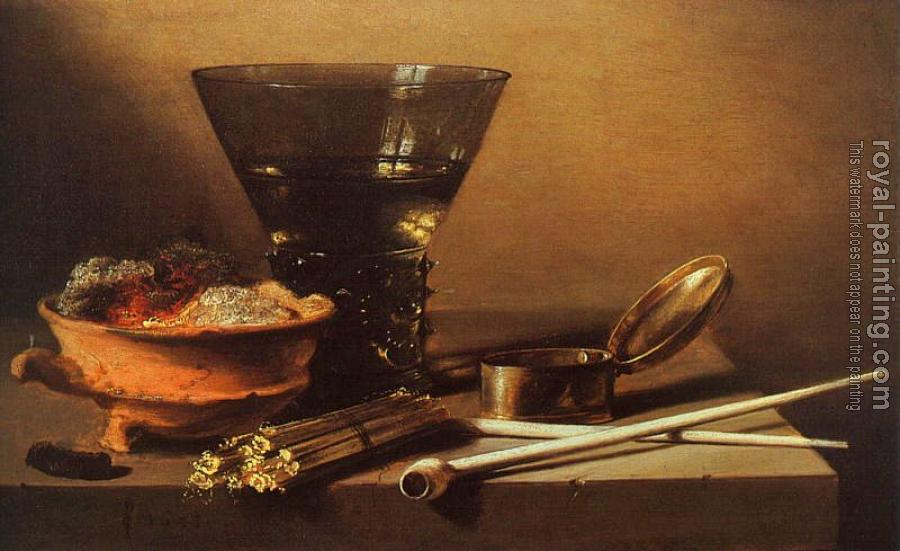 Pieter Claesz : Still Life with Wine and Smoking Implements