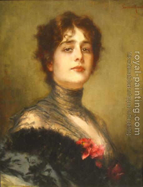 Conrad Kiesel : Portrait Of a Spanish Lady