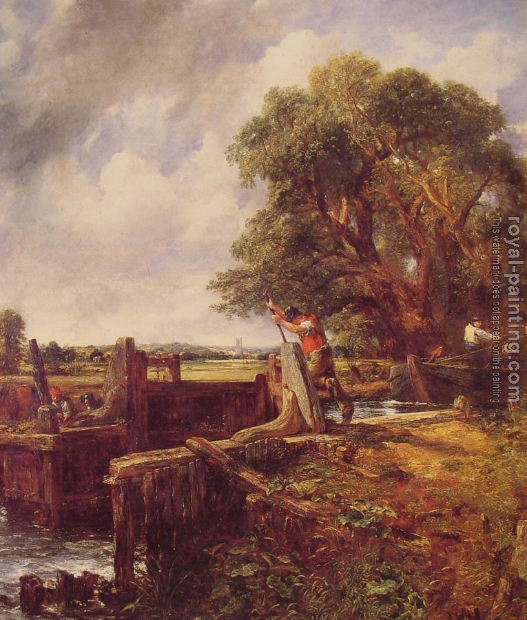 John Constable : A Boat Passing a Lock
