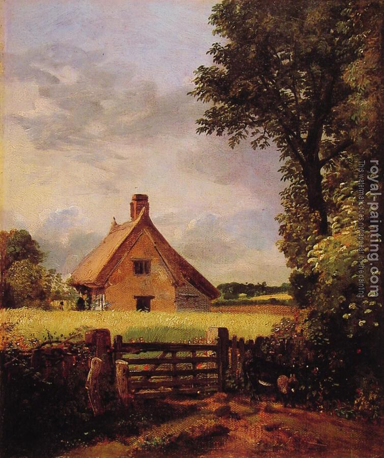 John Constable : A Cottage in a Cornfield