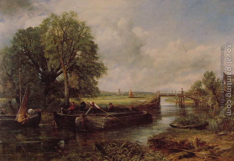 John Constable : A View on the Stour near Dedham