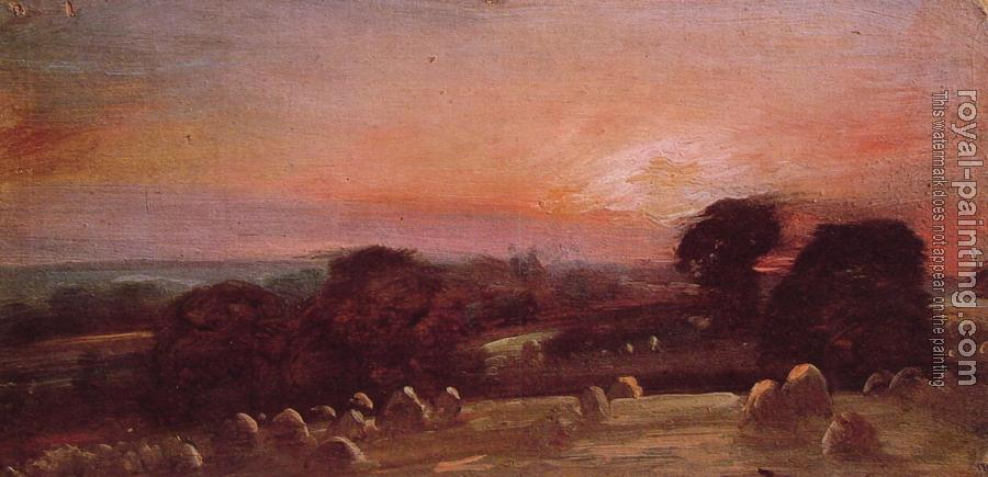 John Constable : A Hayfield at East Bergholt