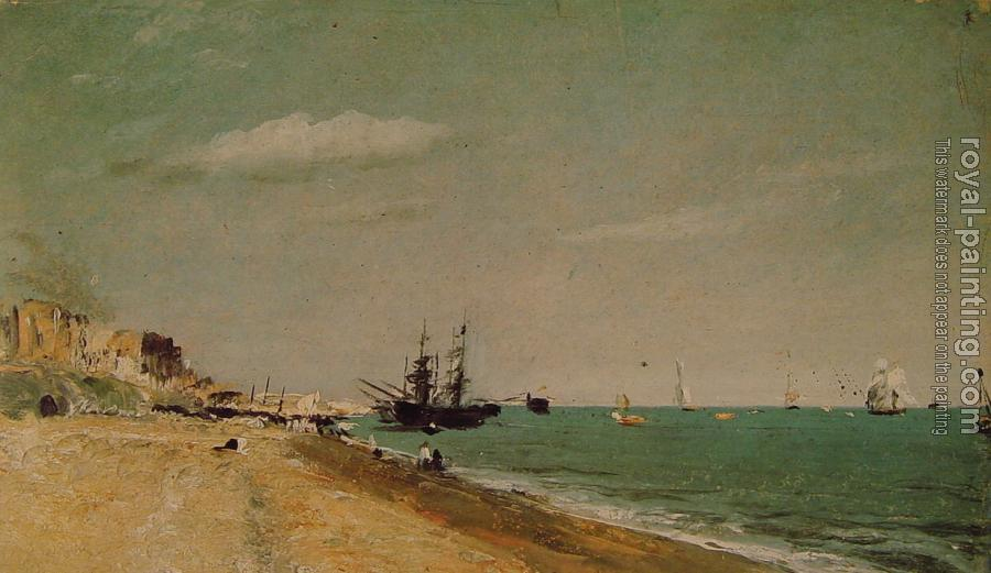 John Constable : Brighton Beach with Colliers