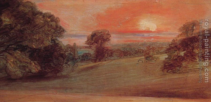 John Constable : Evening Landscape at East Bergholt