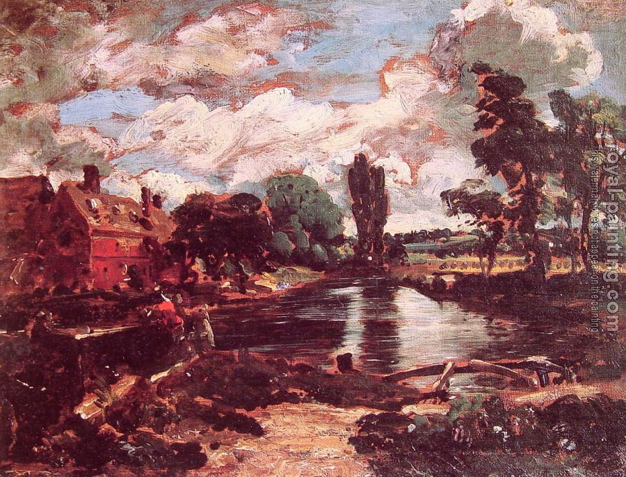 John Constable : Flatford Mill from the Lock