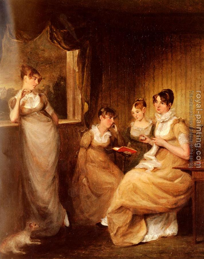 John Constable : Ladies From The Family Of Mr William Mason Of Colchester