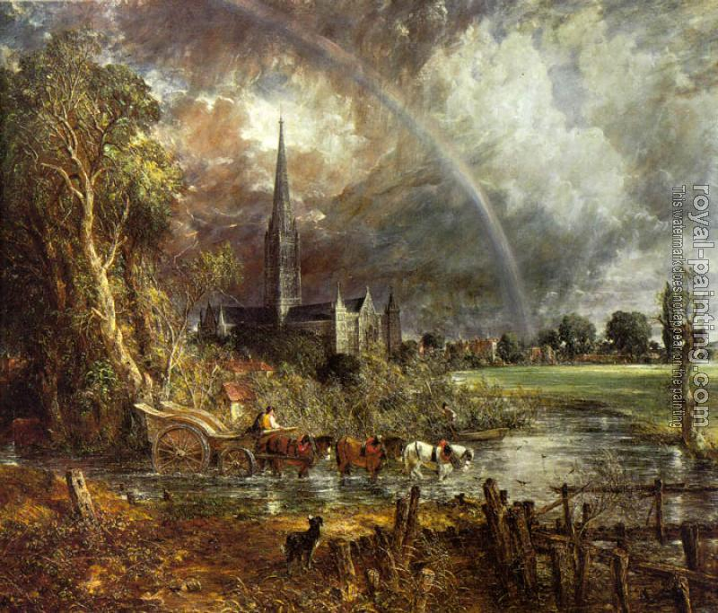 John Constable : Salisbury Cathedral from the Meadows II