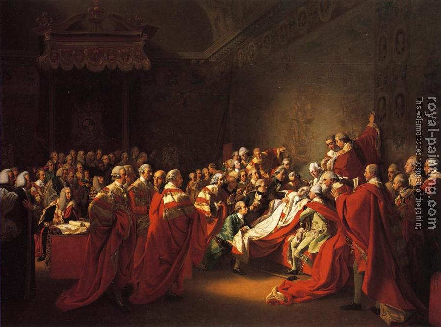 John Singleton Copley : The Collapse of the Earl of Chatham in the House of Lords (The Death of the Earl of Chatham)