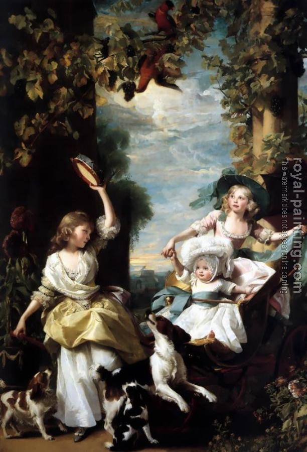 John Singleton Copley : The Three Youngest Daughters of George