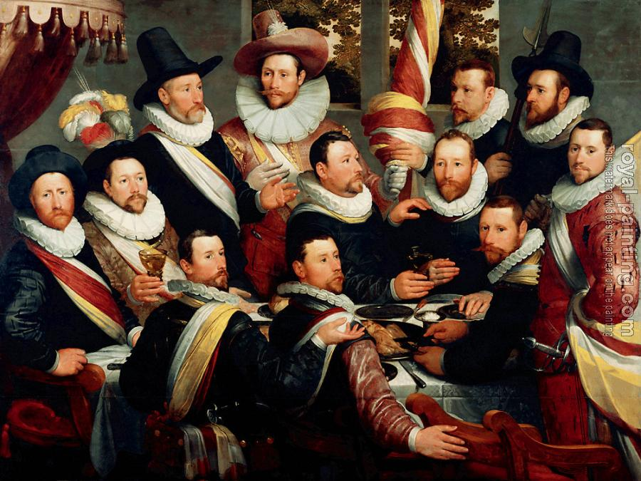 Cornelis Van Haarlem : Banquet of the Officers of the Company of St George