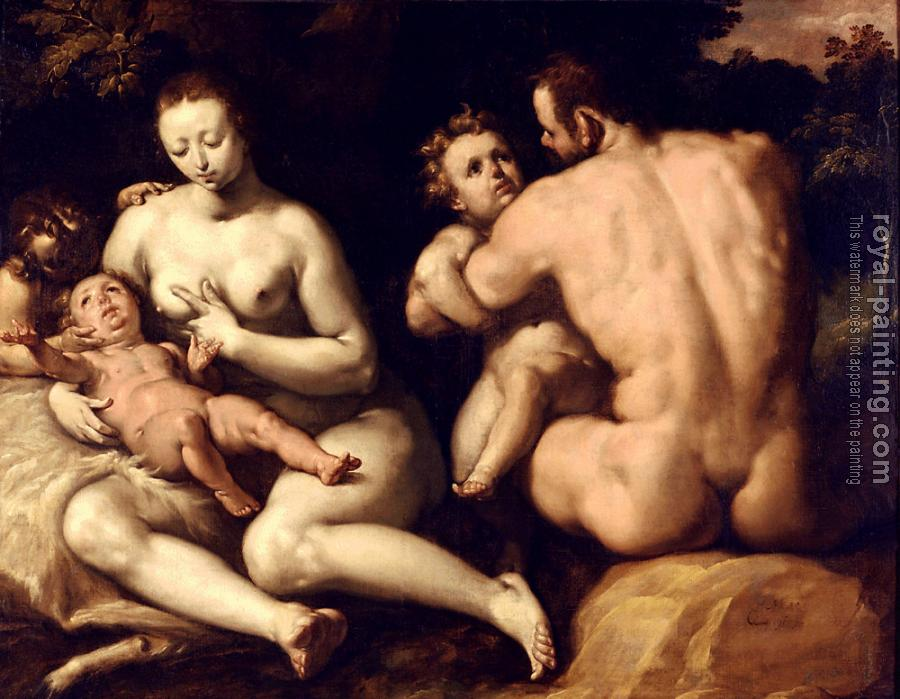 Cornelis Van Haarlem : The first family, Noah and his family